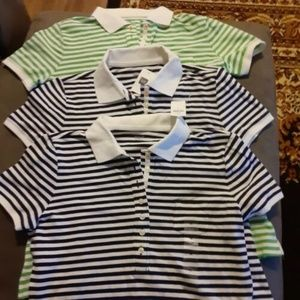 Lot of 3 New Mens Gap polo shirts size M